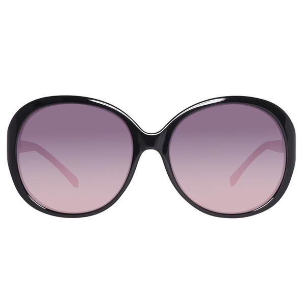 Gafas de sol inyectado mujer - negro/rosa