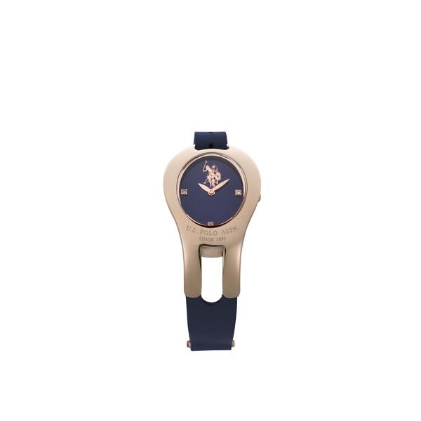 Reloj analógico mujer piel - azul oscuro