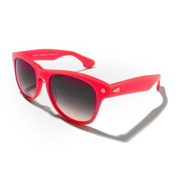 Gafas de sol de unisex calibre 54 acetato - rojo