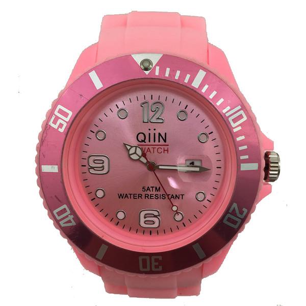 Reloj analógico unisex caucho - rosa