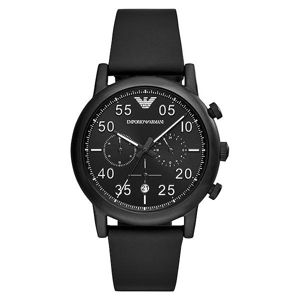 Reloj hombre cronógrafo acero - negro