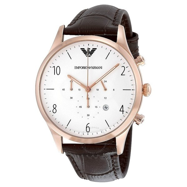 Reloj analógico piel hombre - marrón