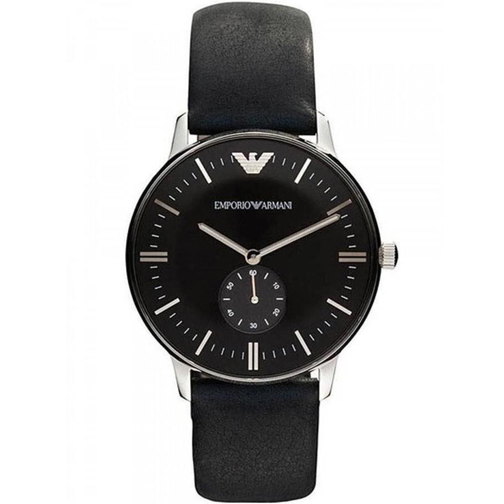 Reloj cronografo hombre piel - negro