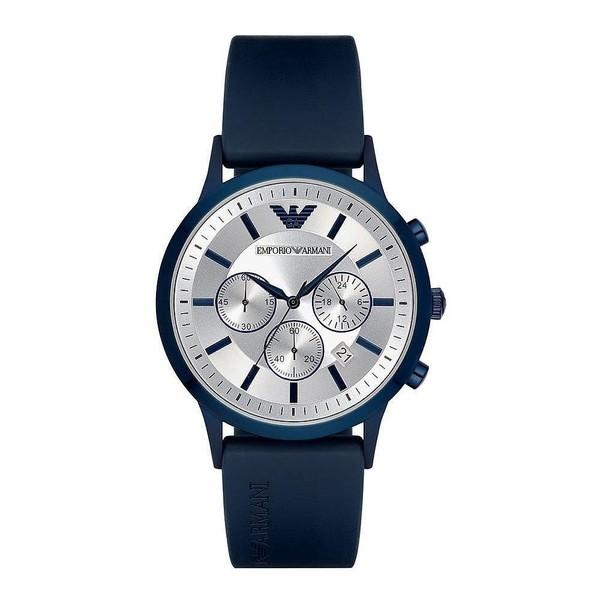 Reloj análogico hombre caucho - azul