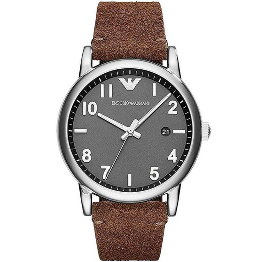 Reloj cronógrafo hombre piel - marrón