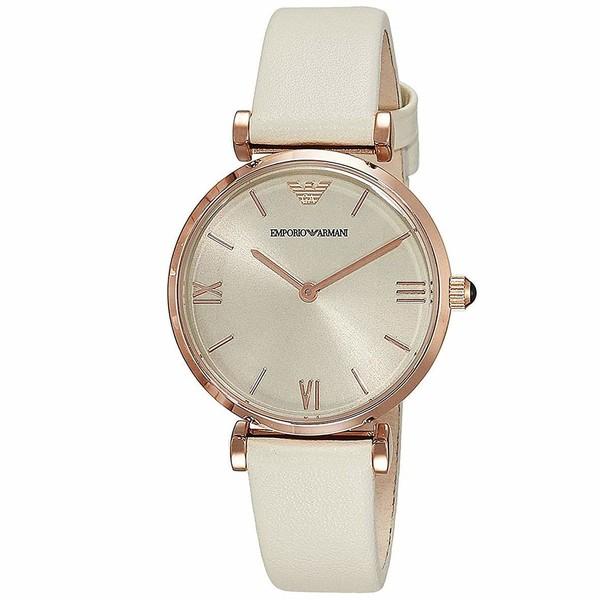 Reloj análogico mujer piel - beige