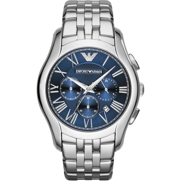 Reloj análogico hombre acero - plateado