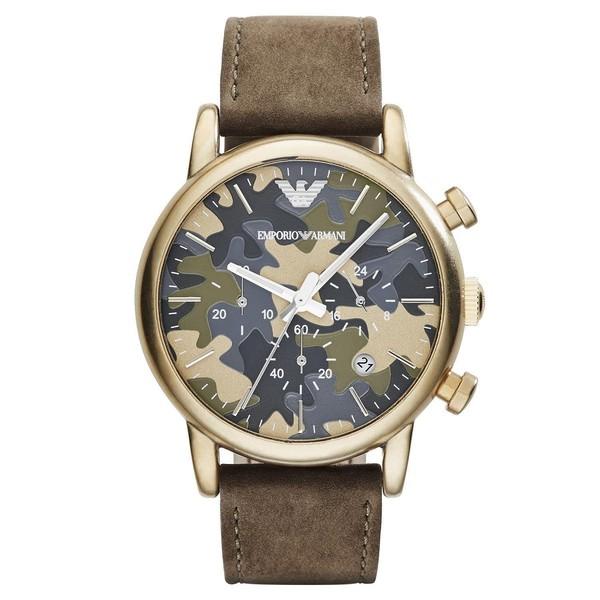 Reloj cronografo hombre piel - verde