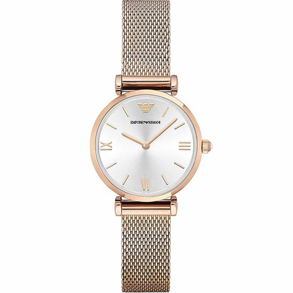 Reloj análogico mujer acero - rosado