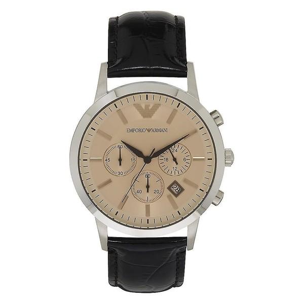 Reloj cronografo hombre piel - marron