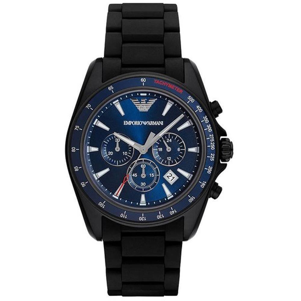 Reloj análogico hombre acero - negro