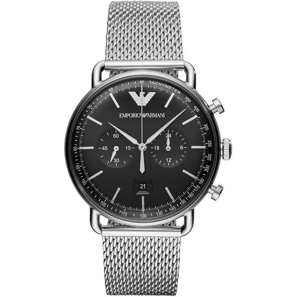Reloj analógico hombre acero - plateado