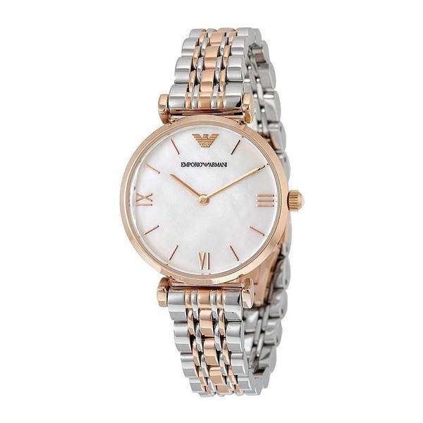 Reloj analógico mujer acero - bicolor
