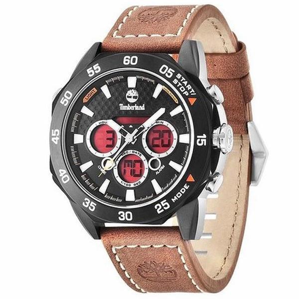 Reloj analógico x digital piel hombre - marrón