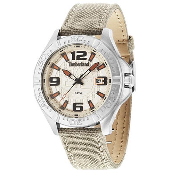Reloj analógico piel hombre - beige