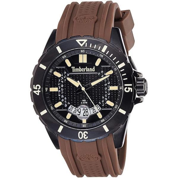 Reloj analógico silicona hombre - marrón