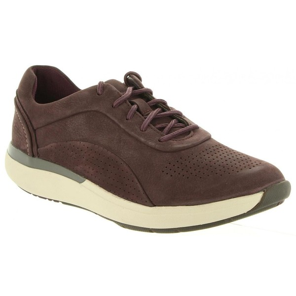 Sneaker piel mujer - burdeos