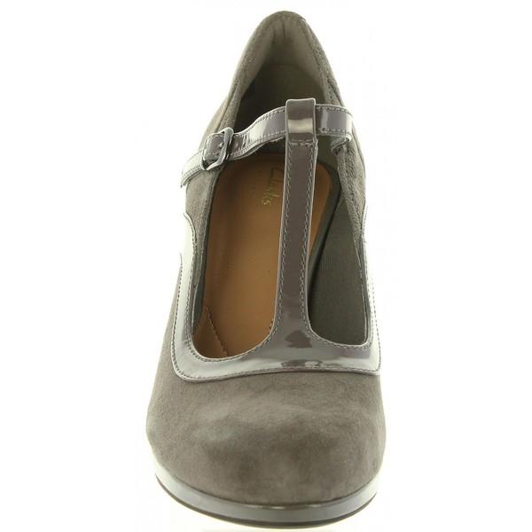 7cm Zapato tacón piel mujer - gris