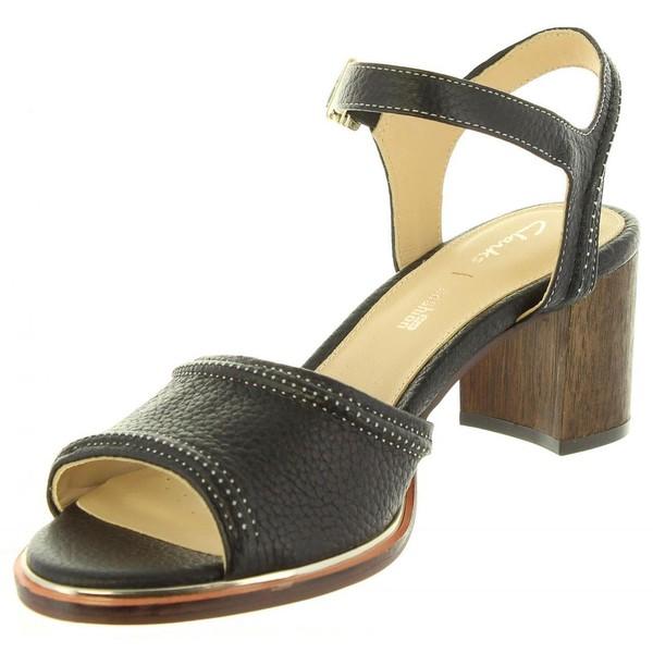 Ellis De Negro 26131069 Mujer Zapatos Clarks Leather Tacón Black Wqp1Wng
