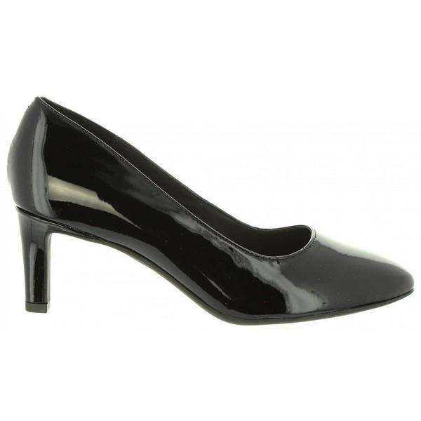 6cm Zapato tacón piel mujer - negro