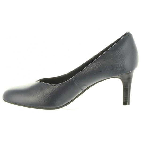 7cm Zapato tacón piel mujer - marino