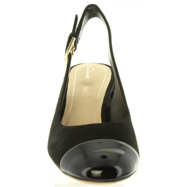 6cm Sandalia tacón piel mujer - negro