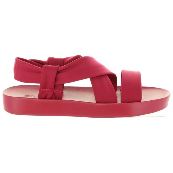 Sandalia piel mujer - fucsia