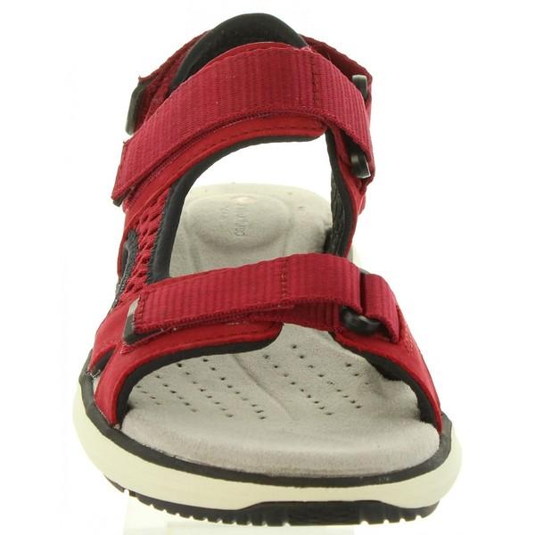 Sandalia piel mujer - rojo