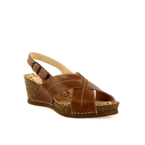 Sandalia abierta - marrón