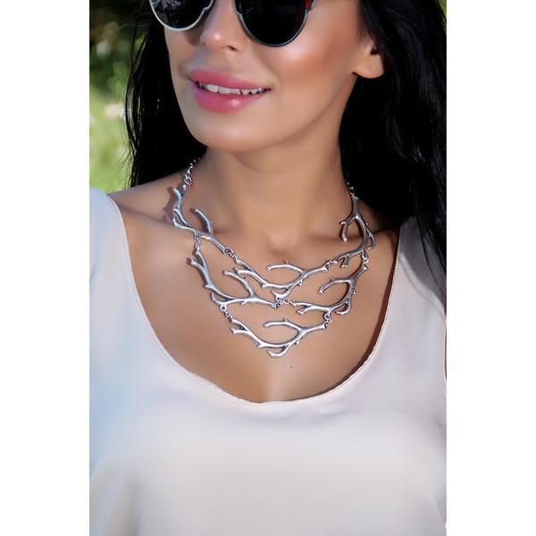 Collar de mujer Zamak - plata
