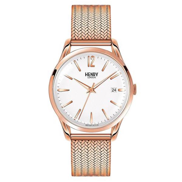 Reloj analógico acero unisex - rosado