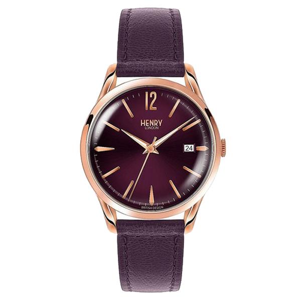 Reloj analógico piel mujer - purpura