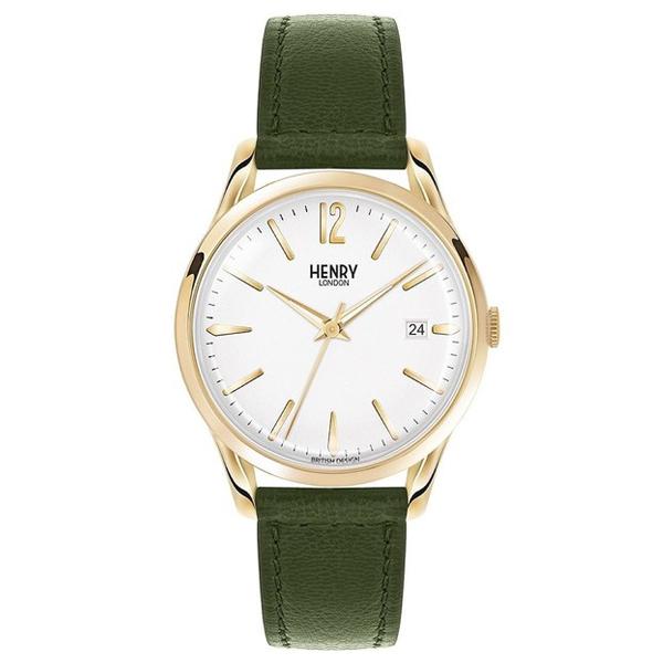 Reloj analógico piel hombre - verde