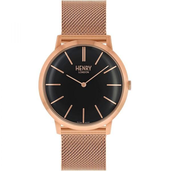 Reloj analógico unisex acero - oro rosa