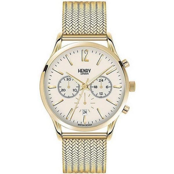 Reloj analógico acero hombre - dorado
