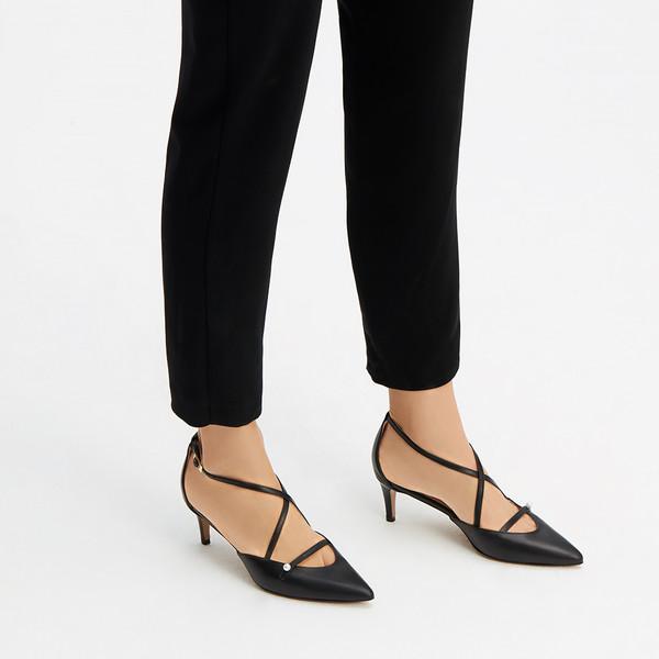 6cm Zapato piel mujer - negro
