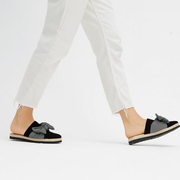 Sandalia ante mujer - negro