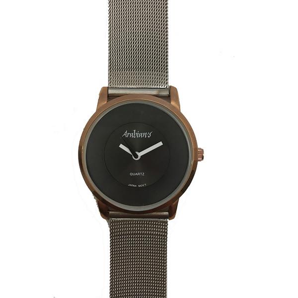 Reloj analógico acero unisex - rosado/plateado