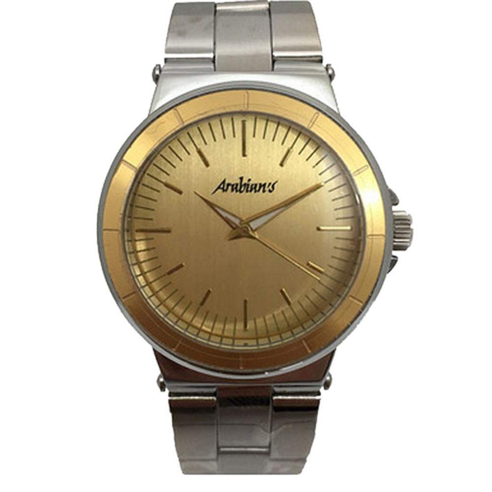 Reloj analógico hombre acero - dorado/plata