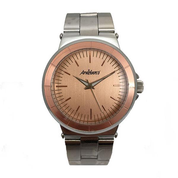 Reloj analógico acero hombre - rosa/plateado