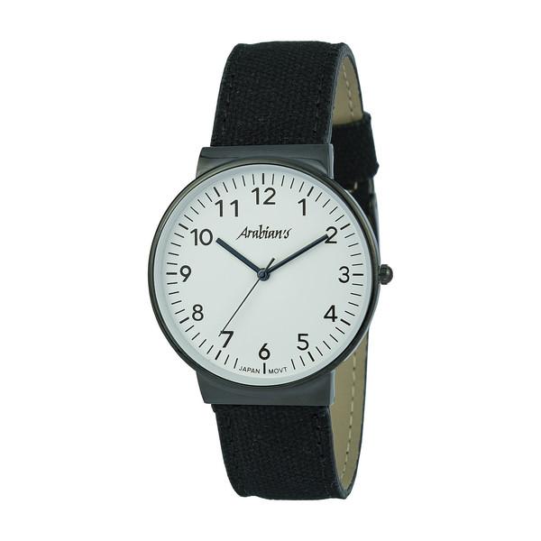Reloj analógico hombre piel - negro