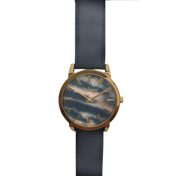 Reloj analógico unisex piel - azul