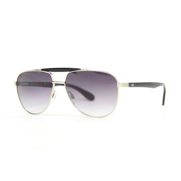 Gafas de sol unisex cal.59 acetato-metal - negro