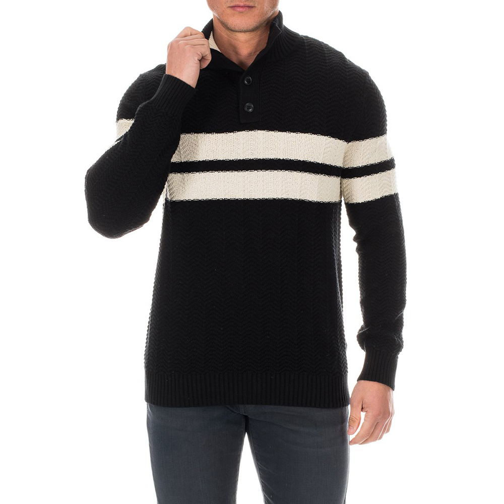 Jersey de punto hombre - negro/blanco