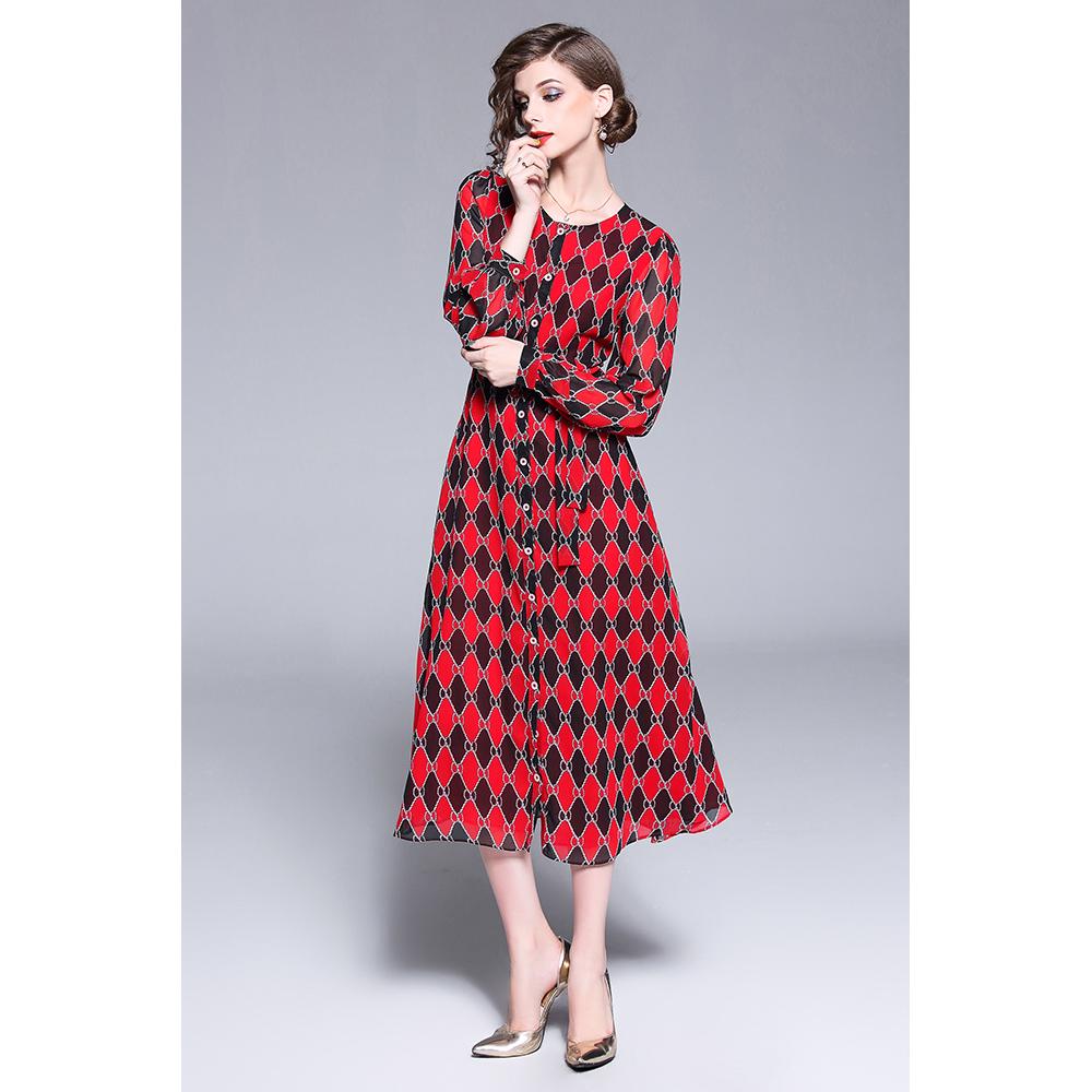 Vestido slim fit - rojo