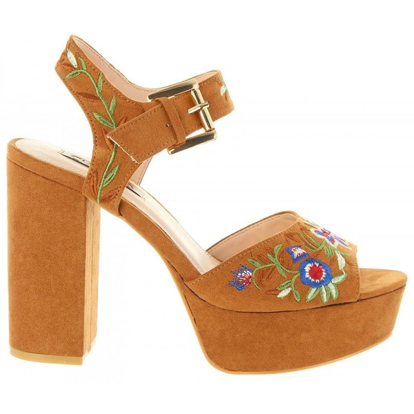 12cm Sandalia tacón mujer - marrón