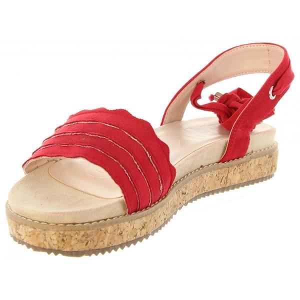 3cm Sandalia plana - rojo