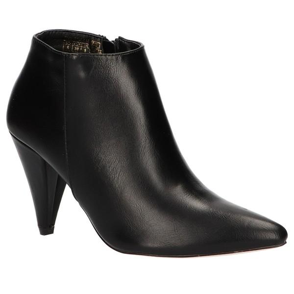 8cm Botines de mujer - negro