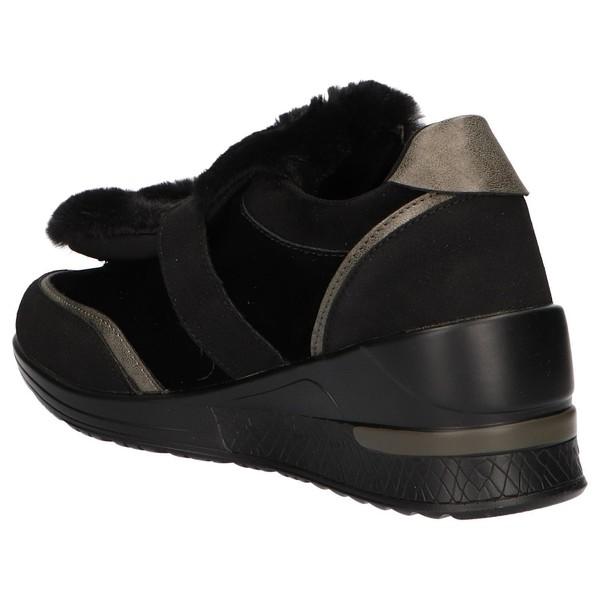 4cm Sneaker cuña mujer - negro