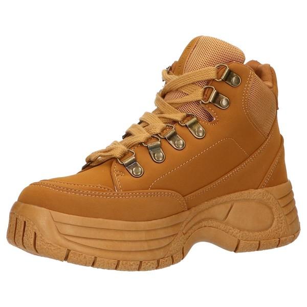 4cm Sneaker chunky mujer - marrón